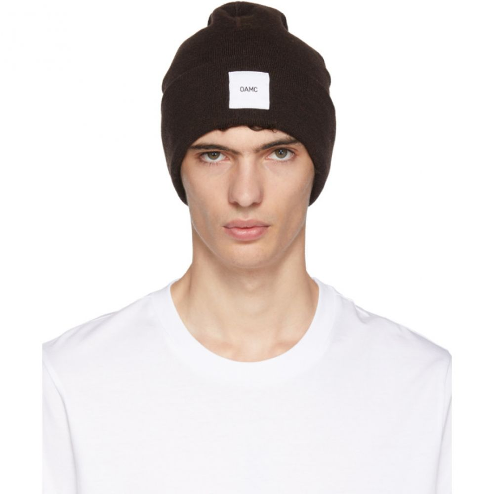 オーエーエムシー メンズ 帽子 ニット【Brown Wool Watch Beanie】