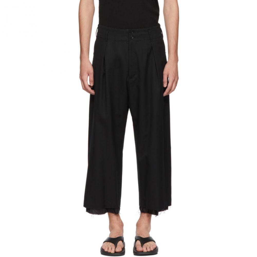 サルバム メンズ ボトムス・パンツ【Black High-Waisted Trousers】