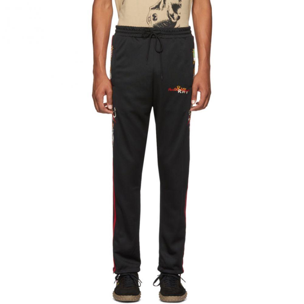 タブレット メンズ ボトムス・パンツ スウェット・ジャージ【Black Chaos Embroidery Track Pants】
