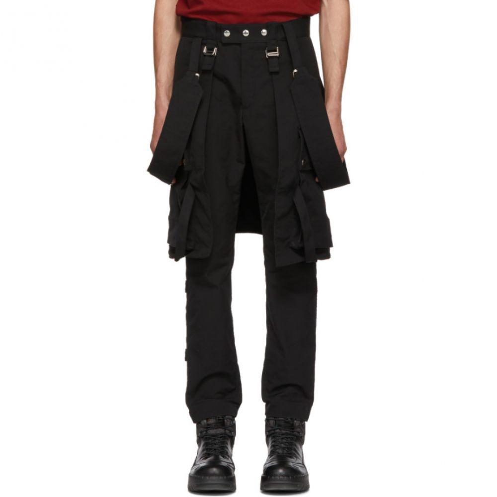 オールモストブラック メンズ ボトムス・パンツ【Black Utility Trousers With Straps】