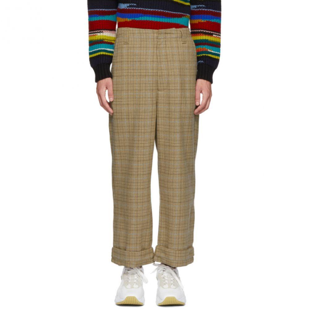 アクネ ストゥディオズ メンズ ボトムス・パンツ【Beige & Blue Checkered Trousers】