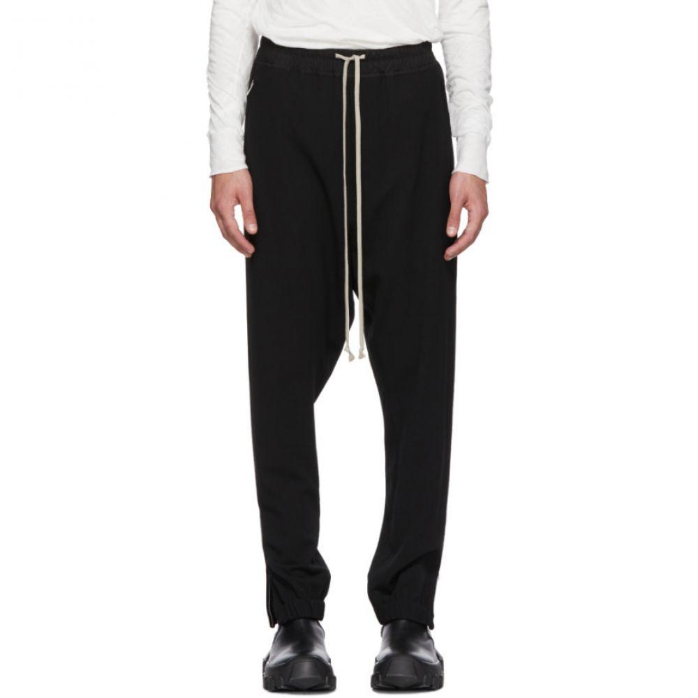 リック オウエンス メンズ ボトムス・パンツ スウェット・ジャージ【Black Wool Track Pants】