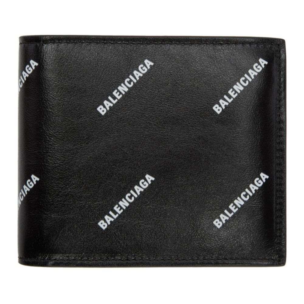 バレンシアガ メンズ 財布【Black All Over Logo Wallet】