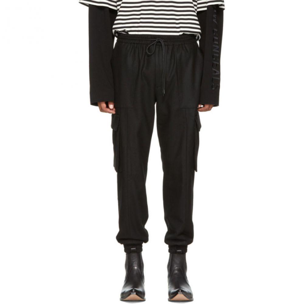 ジュン.J メンズ ボトムス・パンツ カーゴパンツ【Black Cargo Drawstring Jogging Trousers】