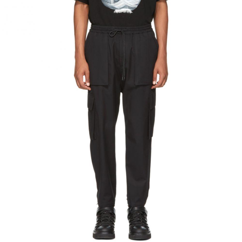 ジュン.J メンズ ボトムス・パンツ カーゴパンツ【Black Cargo Drawstring Trousers】