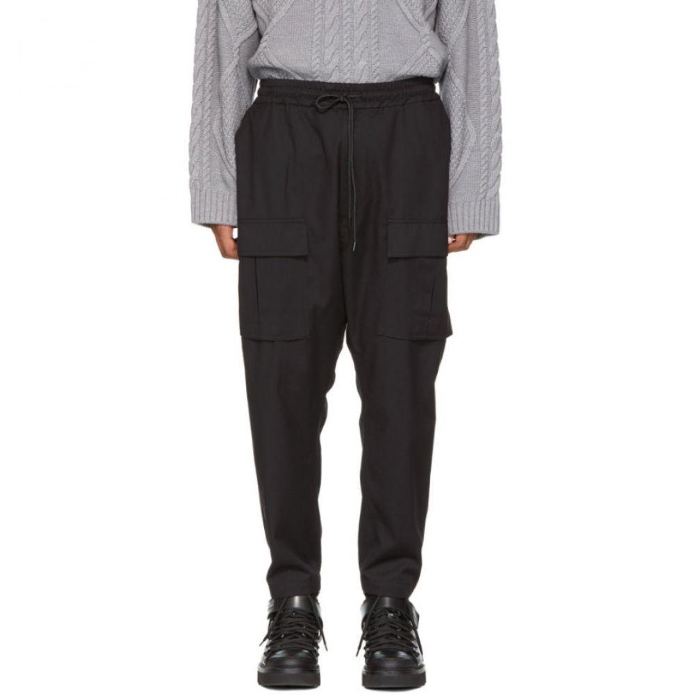ジュン.J メンズ ボトムス・パンツ カーゴパンツ【Black Drawstring Cargo Trousers】