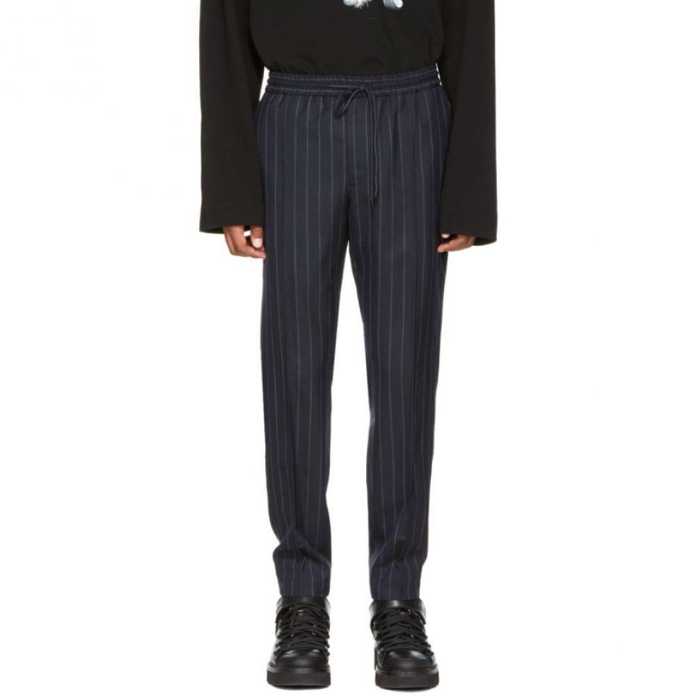 ジュン.J メンズ ボトムス・パンツ【Navy Pinstripe Drawstring Trousers】