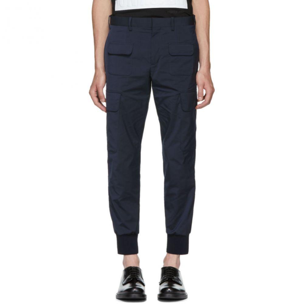 ニール バレット メンズ ボトムス・パンツ カーゴパンツ【Navy Rib Cuff Cargo Pants】