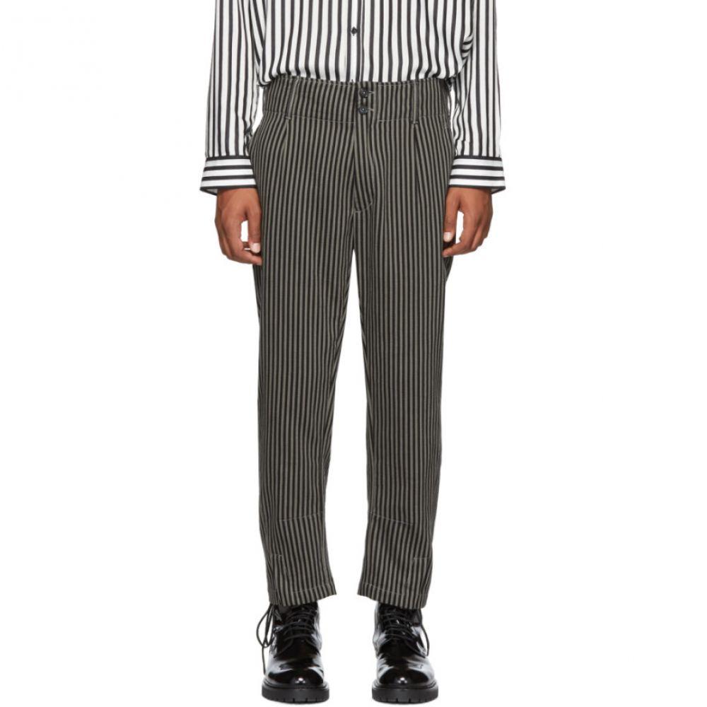 アンドゥムルメステール メンズ ボトムス・パンツ【Black & Beige Cotton Buckley Trousers】