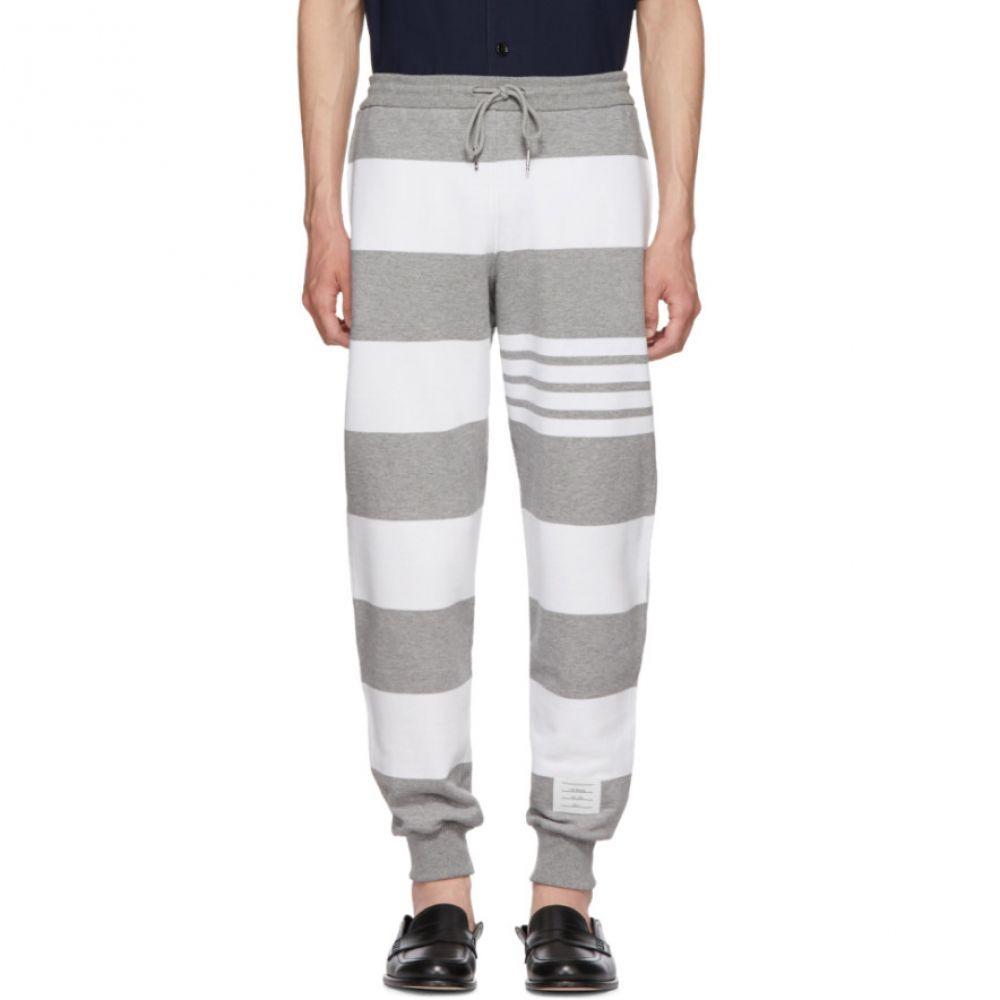 トム ブラウン メンズ ボトムス・パンツ スウェット・ジャージ【Grey Engineered Rugby Stripe Lounge Pants】