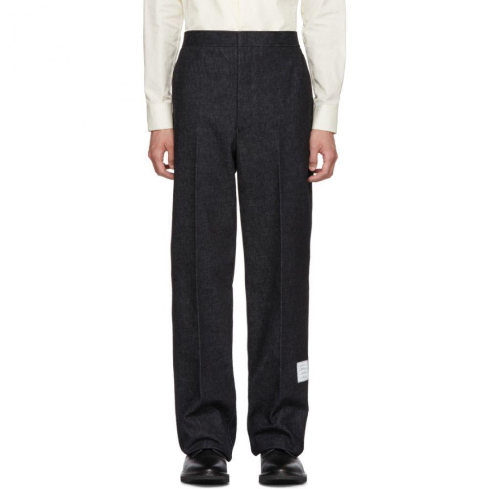 トム ブラウン メンズ ボトムス・パンツ チノパン【Navy Denim Unconstructed Straight-Leg Chino Trousers】