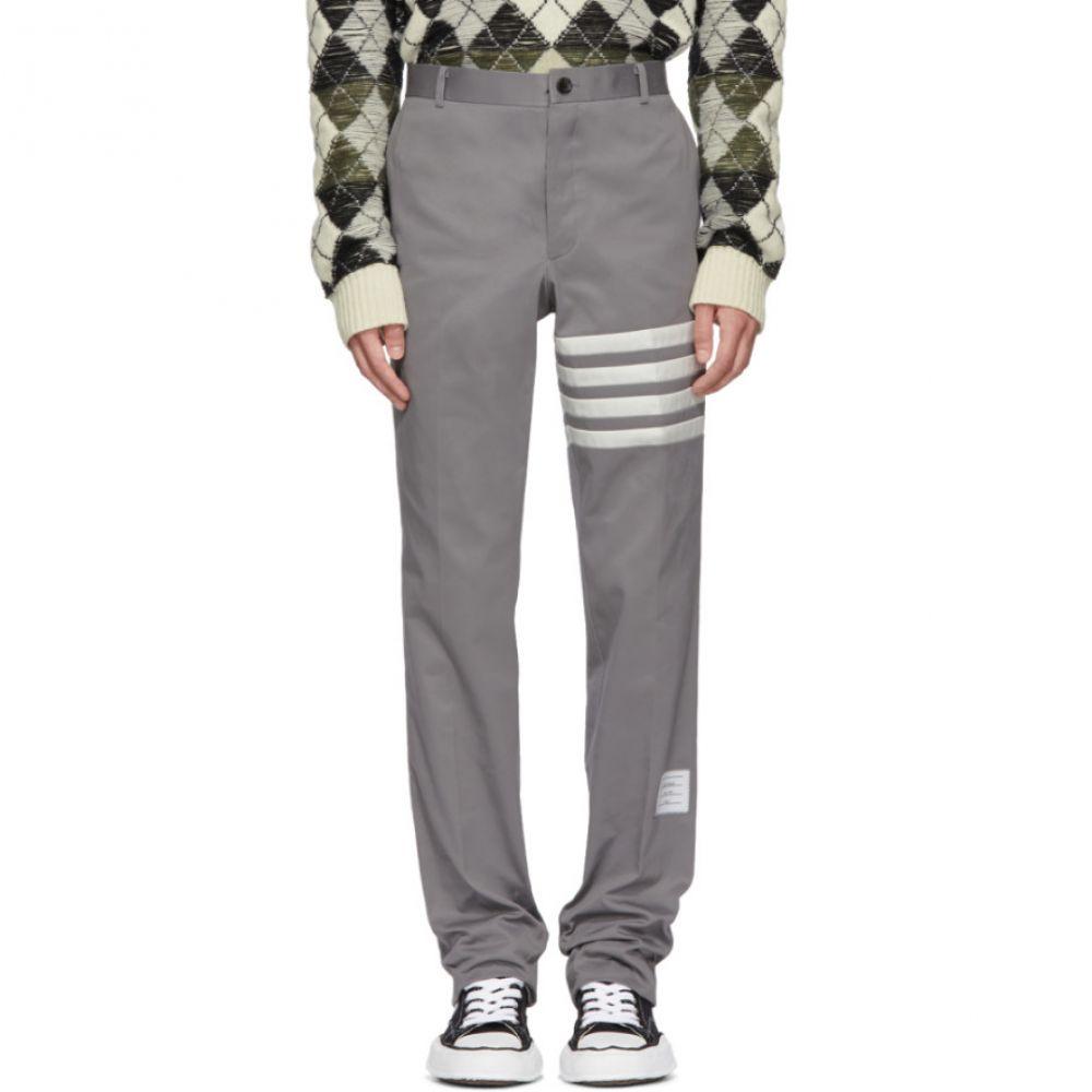 トム ブラウン メンズ ボトムス・パンツ チノパン【Grey Seamed Four Bar Unconstructed Chino Trousers】