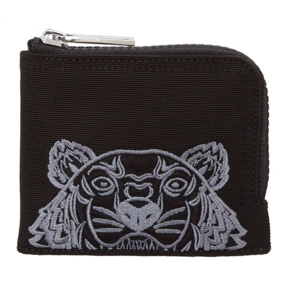 ケンゾー メンズ 財布【Black Tiger Zip Around Wallet】
