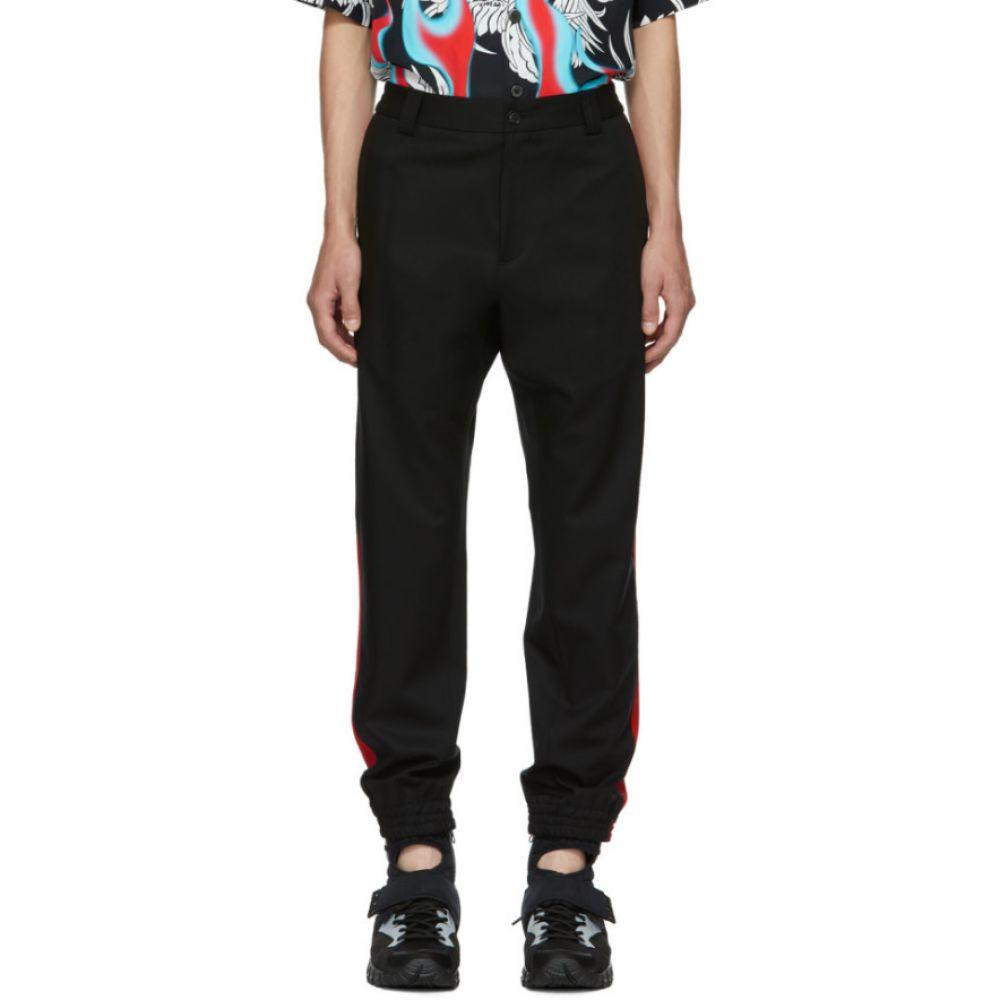 ヴェルサーチ メンズ ボトムス・パンツ【Black Red Stripe Trousers】