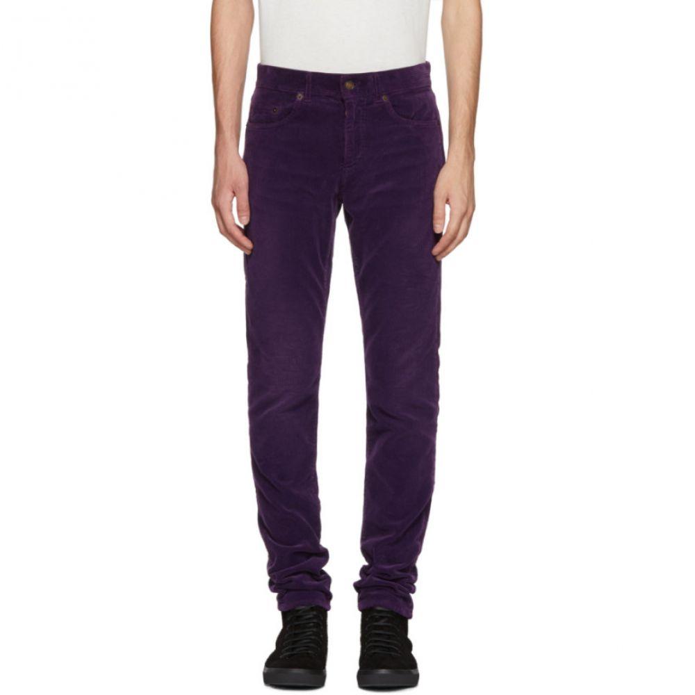 イヴ サンローラン メンズ ボトムス・パンツ スキニー・スリム【Purple Skinny Cord Trousers】