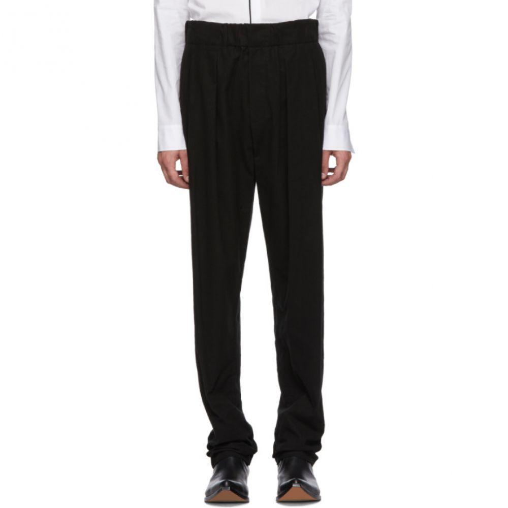 ハイダー アッカーマン メンズ ボトムス・パンツ【Black Elasticized Waistband Trousers】