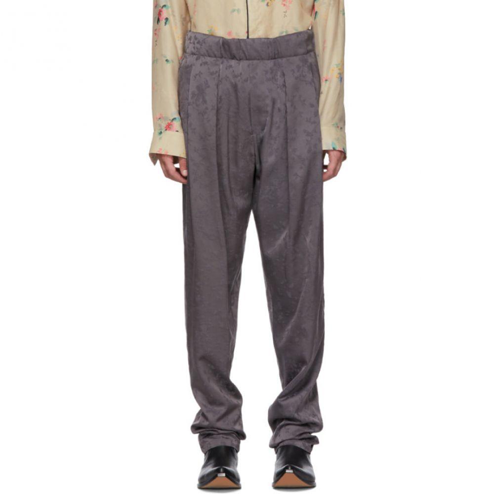 ハイダー アッカーマン Floral Elasticated メンズ ボトムス・パンツ【Grey Trousers】