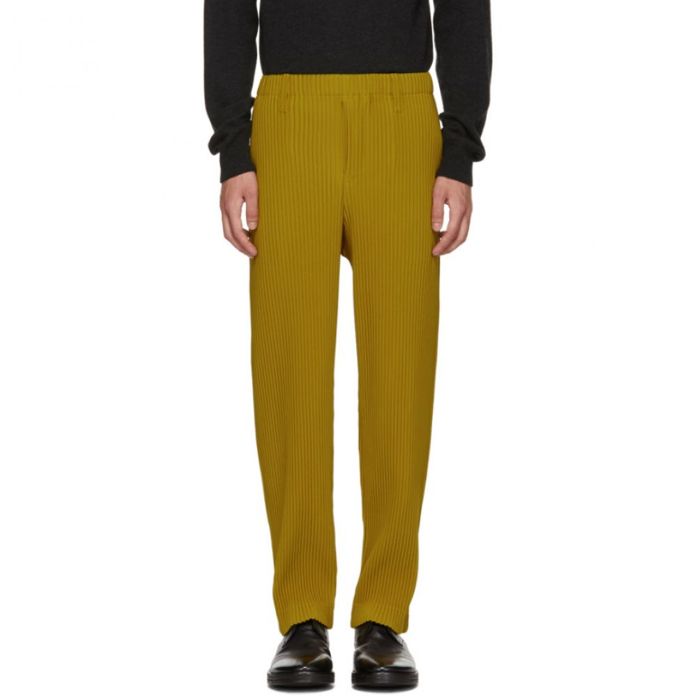 イッセイ ミヤケ メンズ ボトムス・パンツ【Yellow Tailored Pleats Trousers】