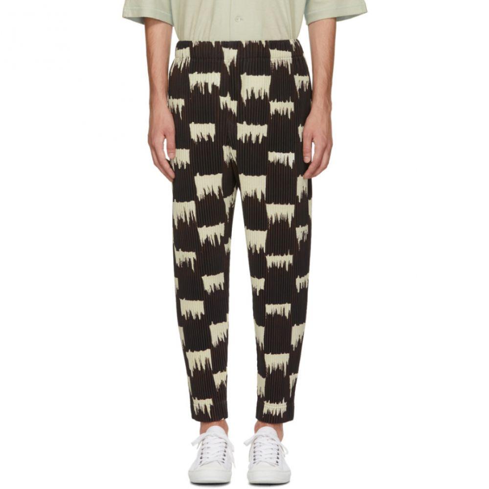 イッセイ ミヤケ メンズ ボトムス・パンツ【Brown & White Wild Check Trousers】