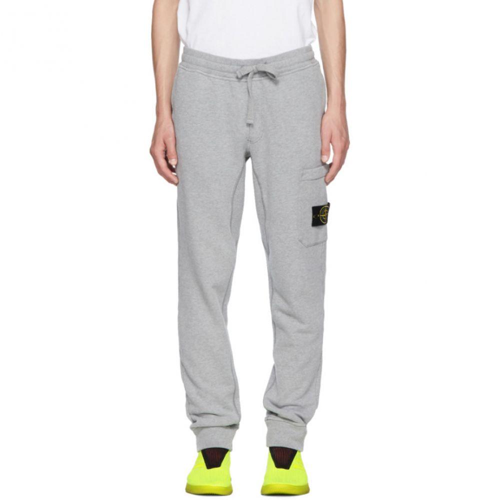 ストーンアイランド メンズ ボトムス・パンツ スウェット・ジャージ【Grey Logo Badge Lounge Pants】