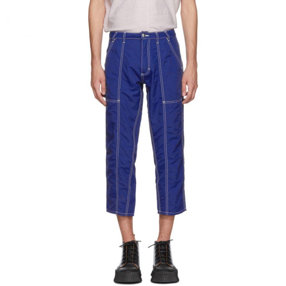 エコーズ ラッタ メンズ ボトムス・パンツ【Blue Blunt Trousers】