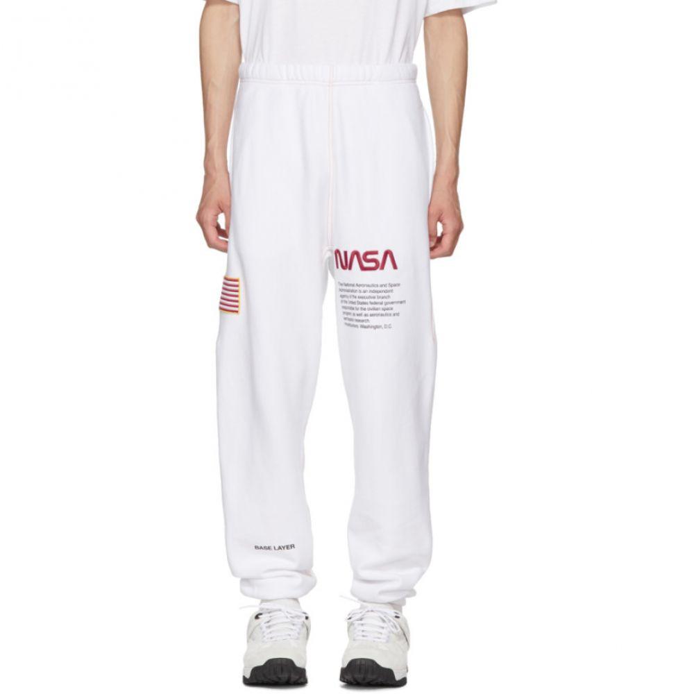 ヘロン プレストン メンズ ボトムス・パンツ スウェット・ジャージ【White NASA Edition Lounge Pants】