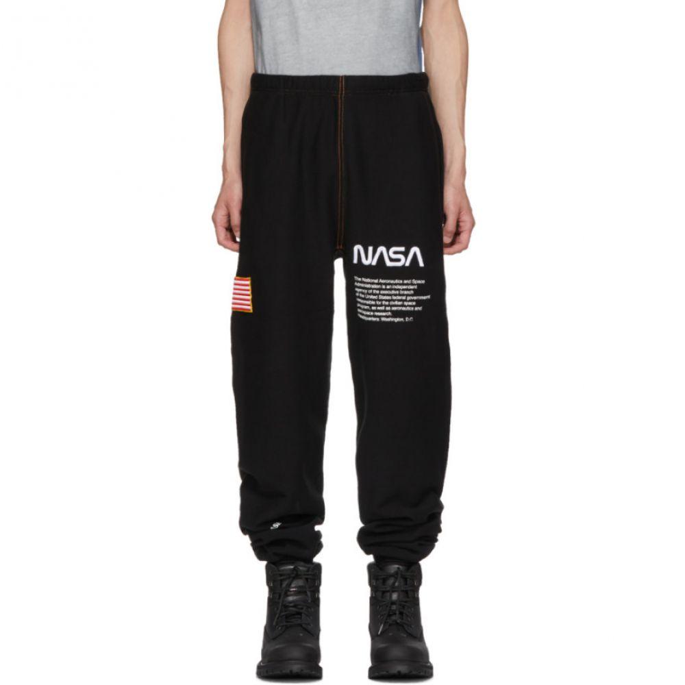 ヘロン プレストン メンズ ボトムス・パンツ スウェット・ジャージ【SSENSE Exclusive Black NASA Edition Lounge Pants】