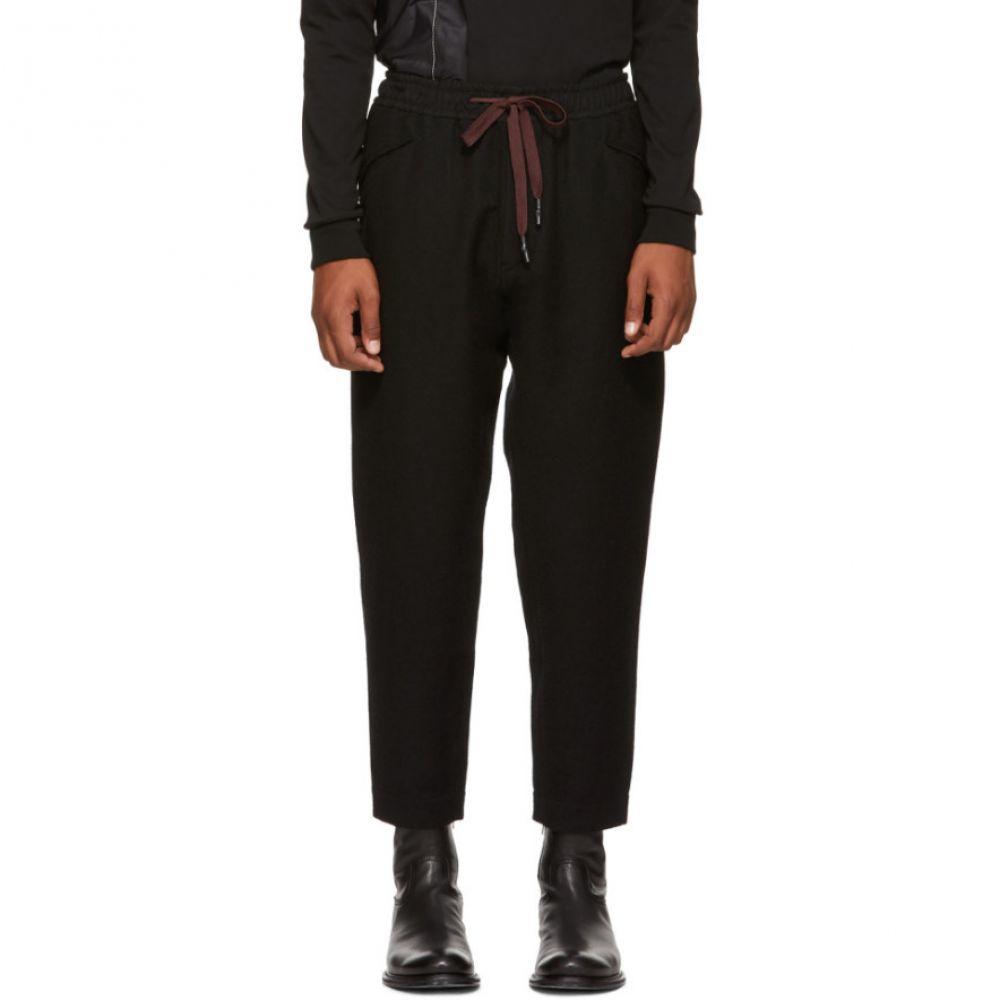 ジギー チェン メンズ ボトムス・パンツ スウェット・ジャージ【Black Wool Drawstring Lounge Pants】