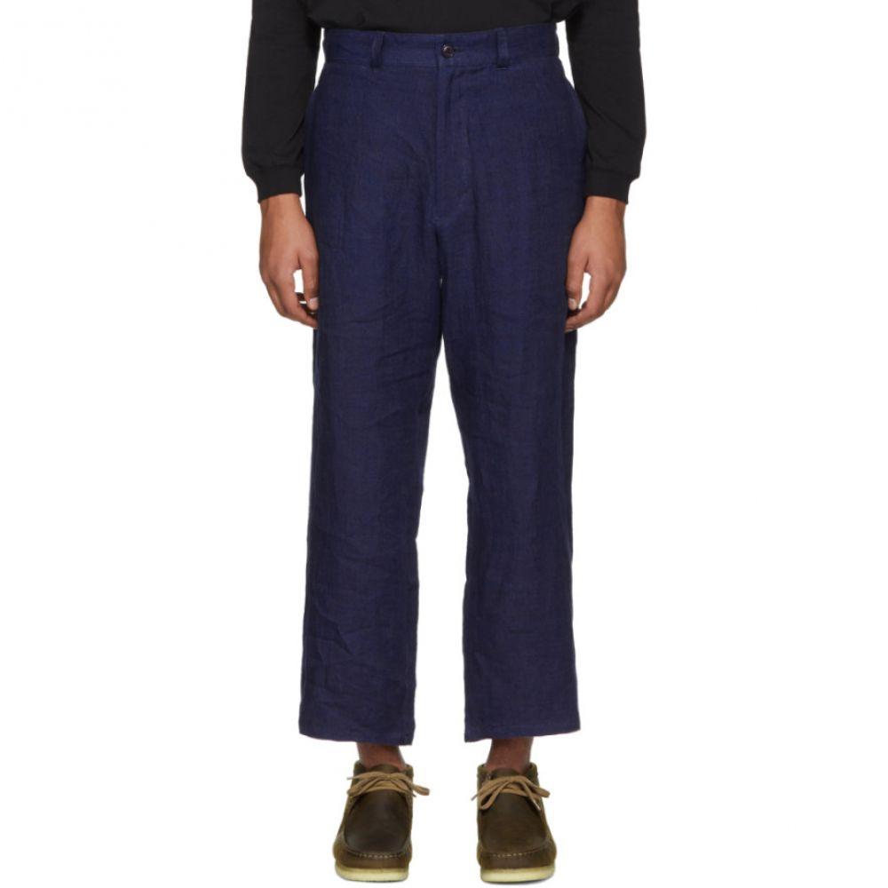 ブルーブルージャパン メンズ ボトムス・パンツ【Blue Linen Twill Trousers】