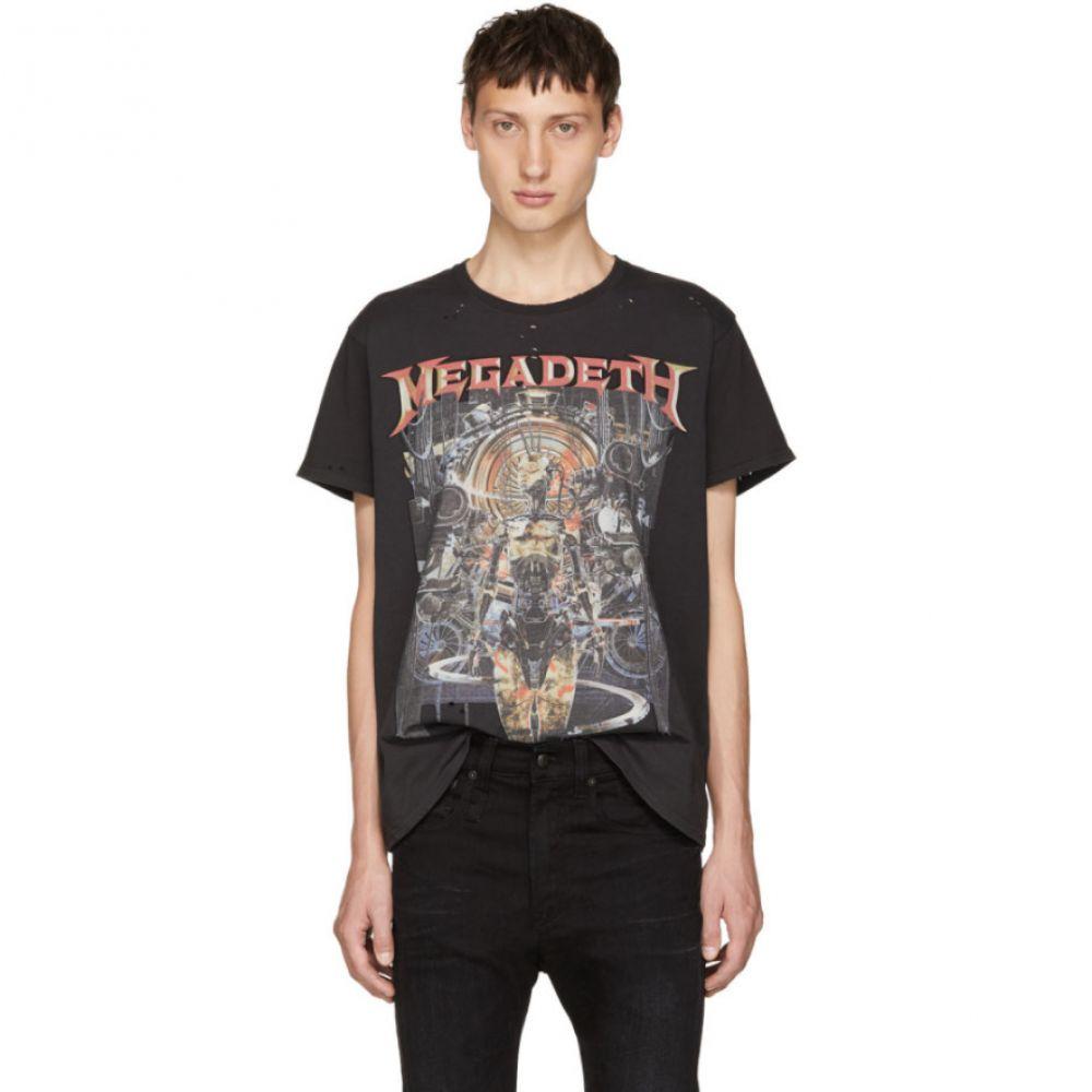 アール サーティーン メンズ トップス Tシャツ【Grey 'Megadeth' T-Shirt】