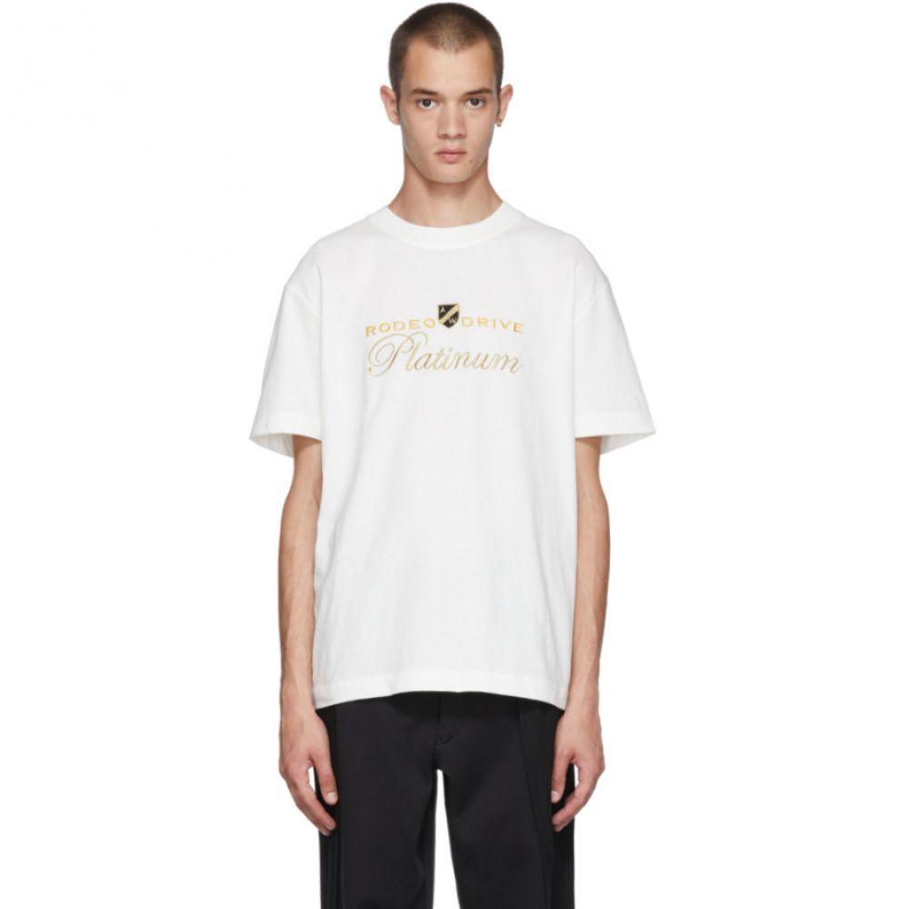 アレキサンダー ワン メンズ トップス Tシャツ【White 'Rodeo Drive Platinum' T-Shirt】