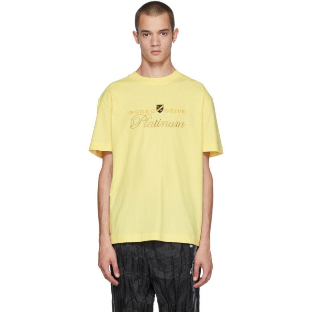 アレキサンダー ワン メンズ トップス Tシャツ【Yellow 'Rodeo Drive Platinum' T-Shirt】