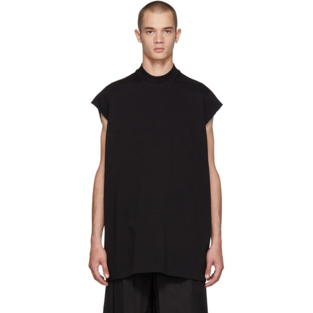 リック オウエンス メンズ トップス Tシャツ【Black Mock Neck T-Shirt】