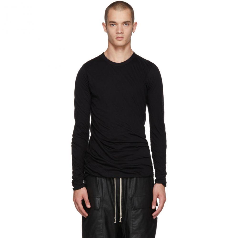 リック オウエンス メンズ トップス 長袖Tシャツ【Black Long Sleeve T-Shirt】