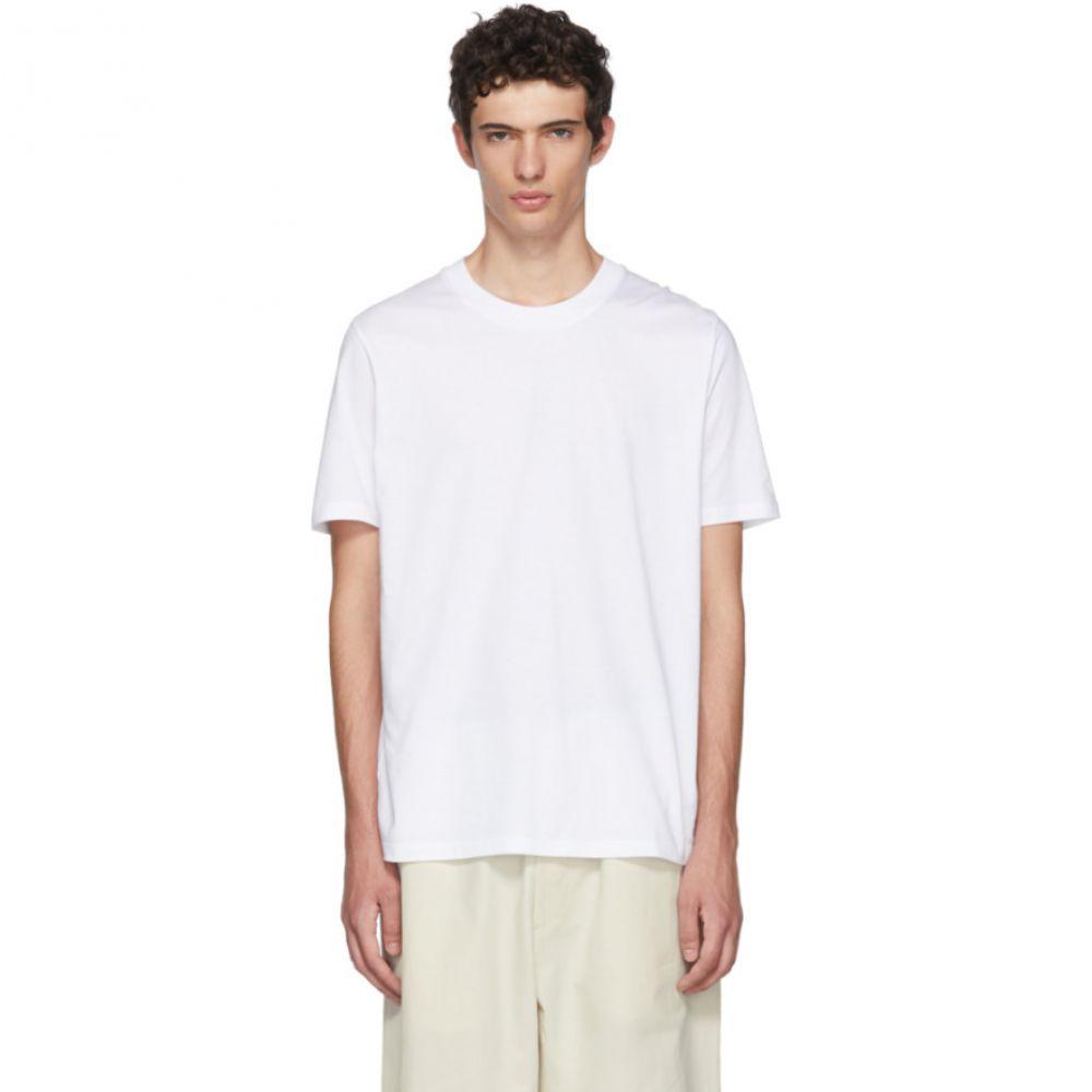 ジル サンダー メンズ トップス Tシャツ【White Cotton T-Shirt】