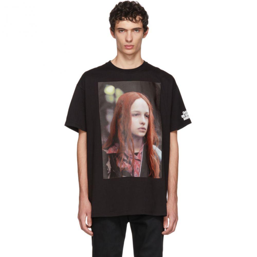 ラフ シモンズ メンズ トップス Tシャツ【Black Christiane F. Detlef T-Shirt】