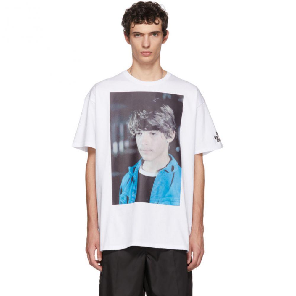 ラフ シモンズ メンズ トップス Tシャツ【White Christiane F. Detlef T-Shirt】