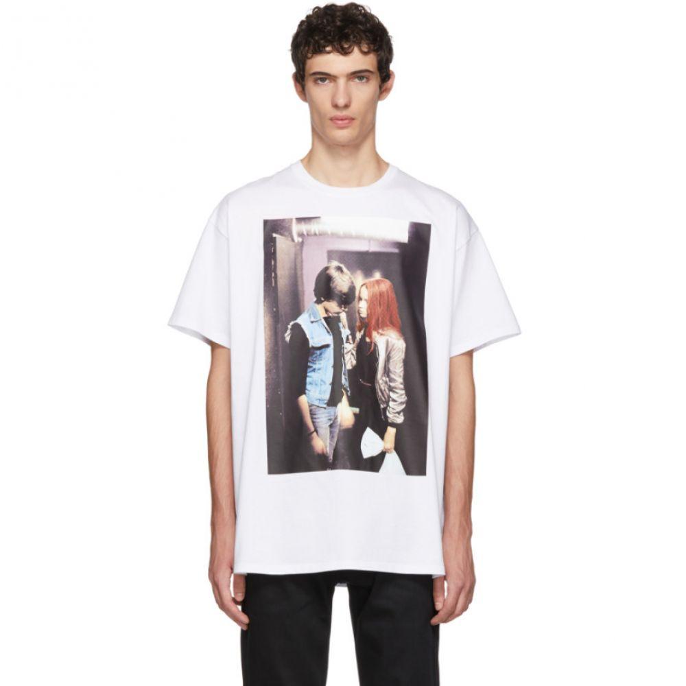 ラフ シモンズ メンズ トップス Tシャツ【White Christiane F. Couple T-Shirt】
