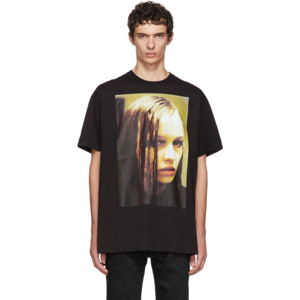 ラフ シモンズ メンズ トップス Tシャツ【Black Christiane F. Wet Hair T-Shirt】