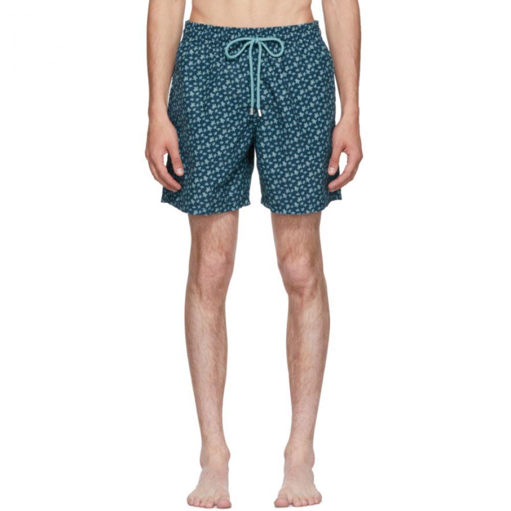 ヴィルブレクイン メンズ 水着・ビーチウェア 海パン【Blue Moorea Micro 'Rondes Des Tortues' Swim Shorts】