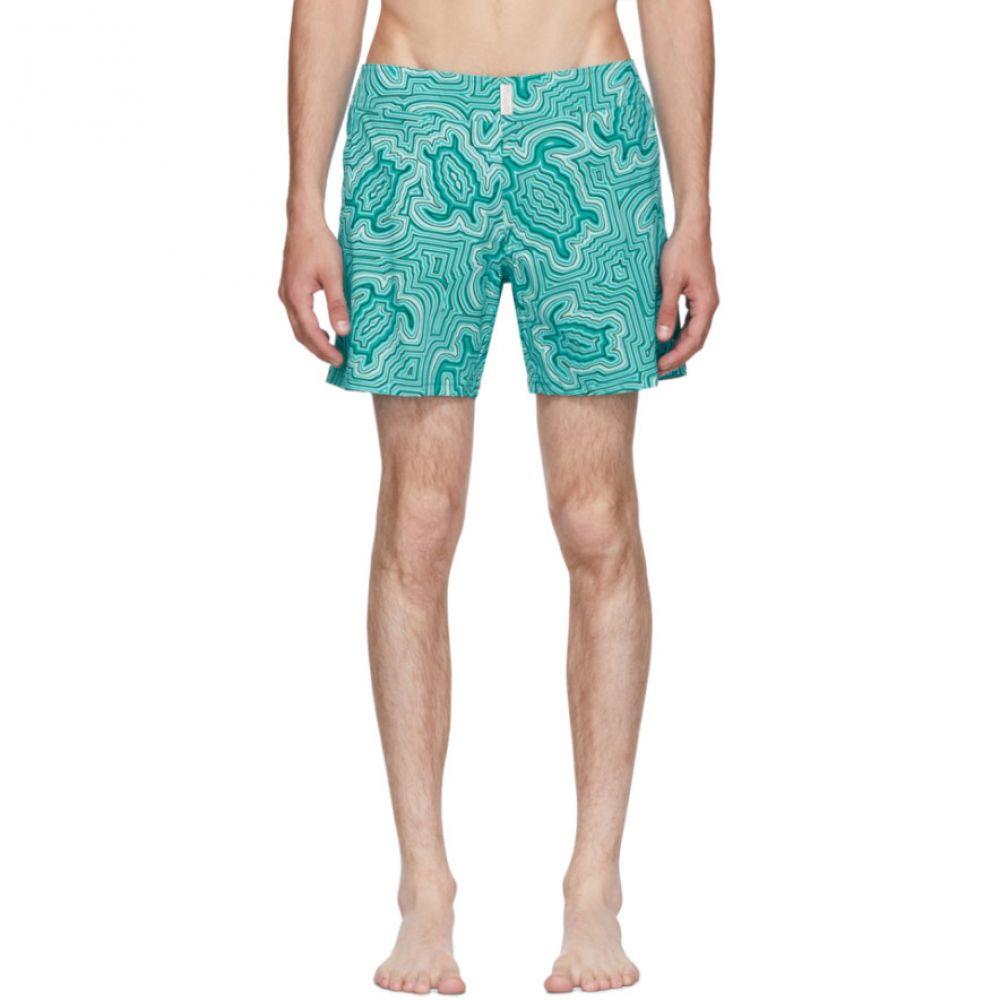 ヴィルブレクイン メンズ 水着・ビーチウェア 海パン【Blue Merise 'Tortue Hypnotoques' Swim Shorts】