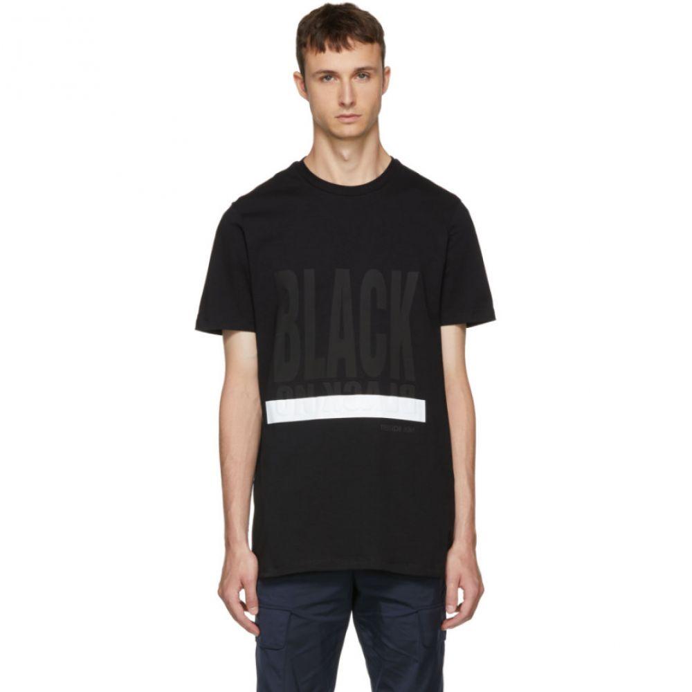 ニール バレット メンズ トップス Tシャツ【Black Graphic T-Shirt】