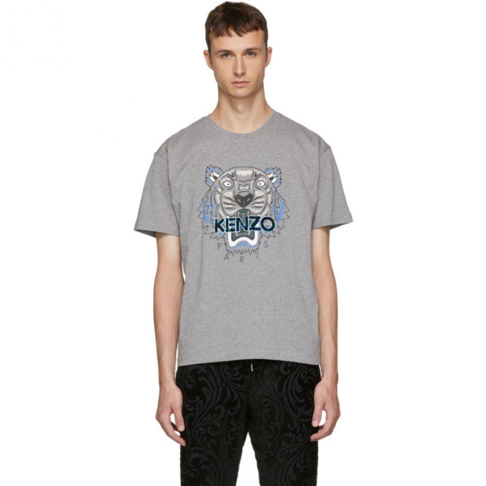 ケンゾー メンズ トップス Tシャツ【Grey Leopard Tiger T-Shirt】