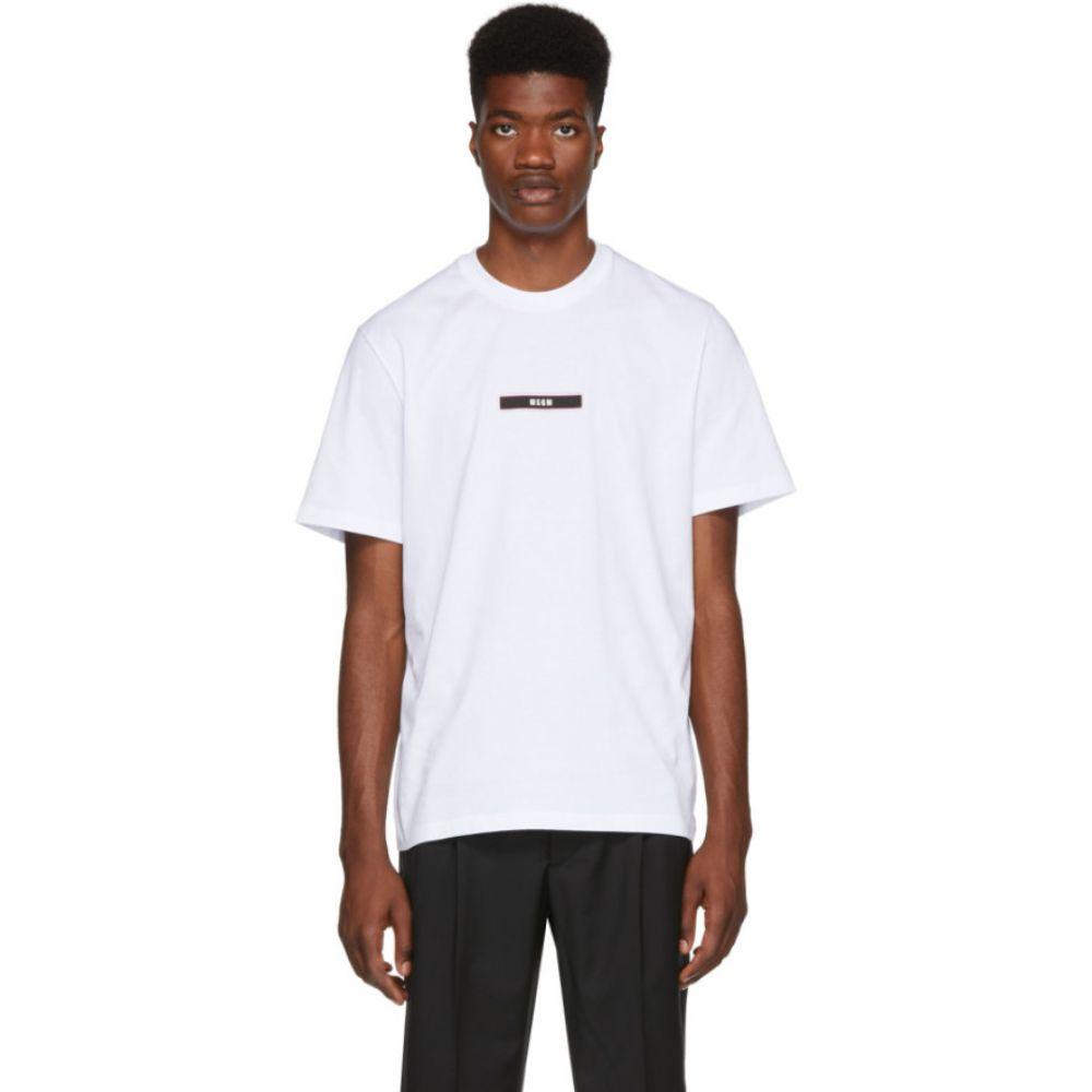 エムエスジーエム メンズ トップス Tシャツ【White Logo T-Shirt】
