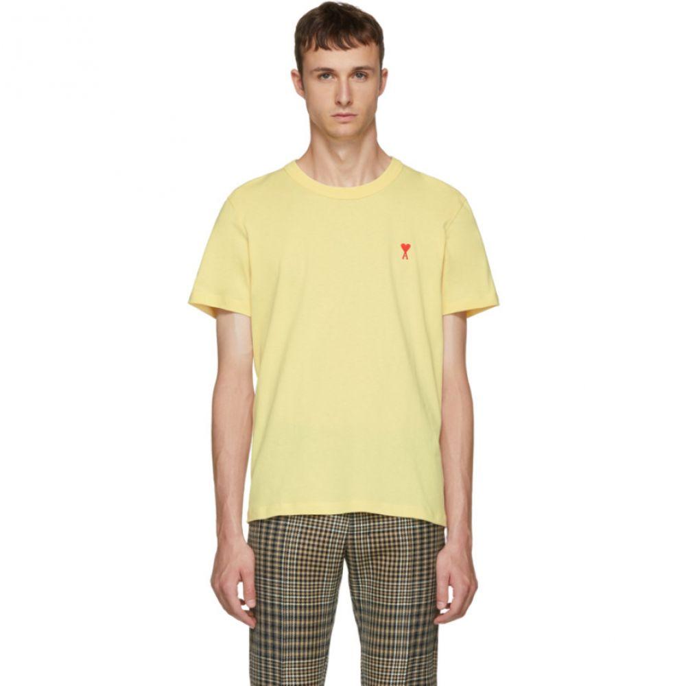 アミアレクサンドルマテュッシ メンズ トップス Tシャツ【Yellow 'Ami de Coeur' T-Shirt】