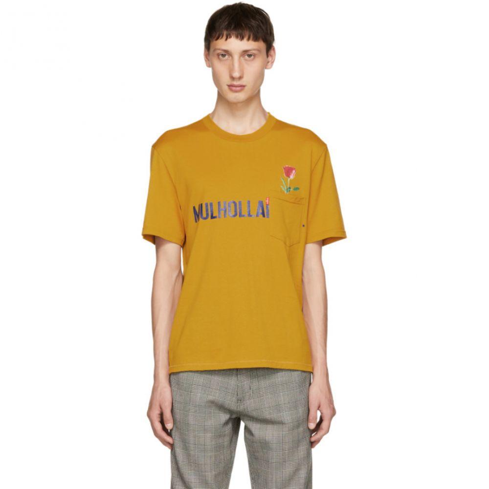 クリスチャン ダダ メンズ トップス Tシャツ【Yellow 'Mulholland Dr.' T-Shirt】