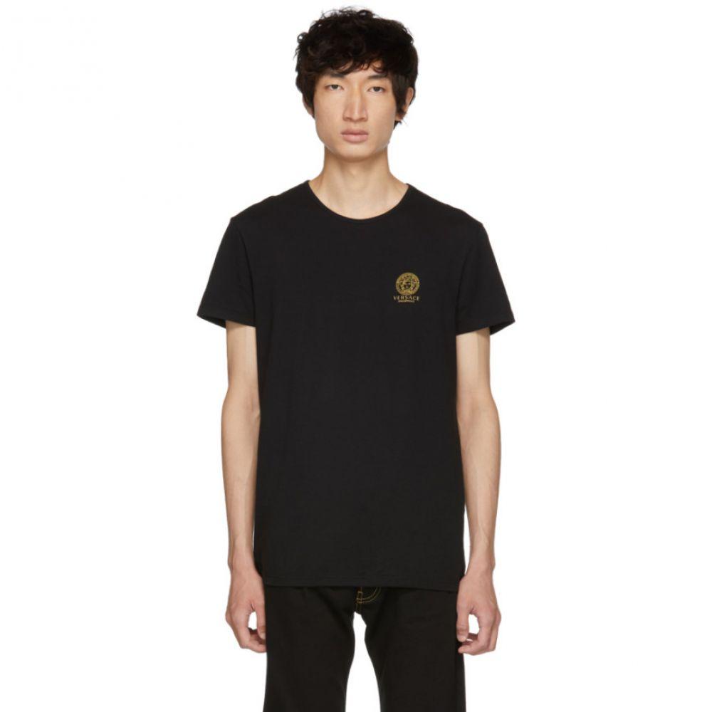 ヴェルサーチ メンズ トップス Tシャツ【Black Medusa T-Shirt】