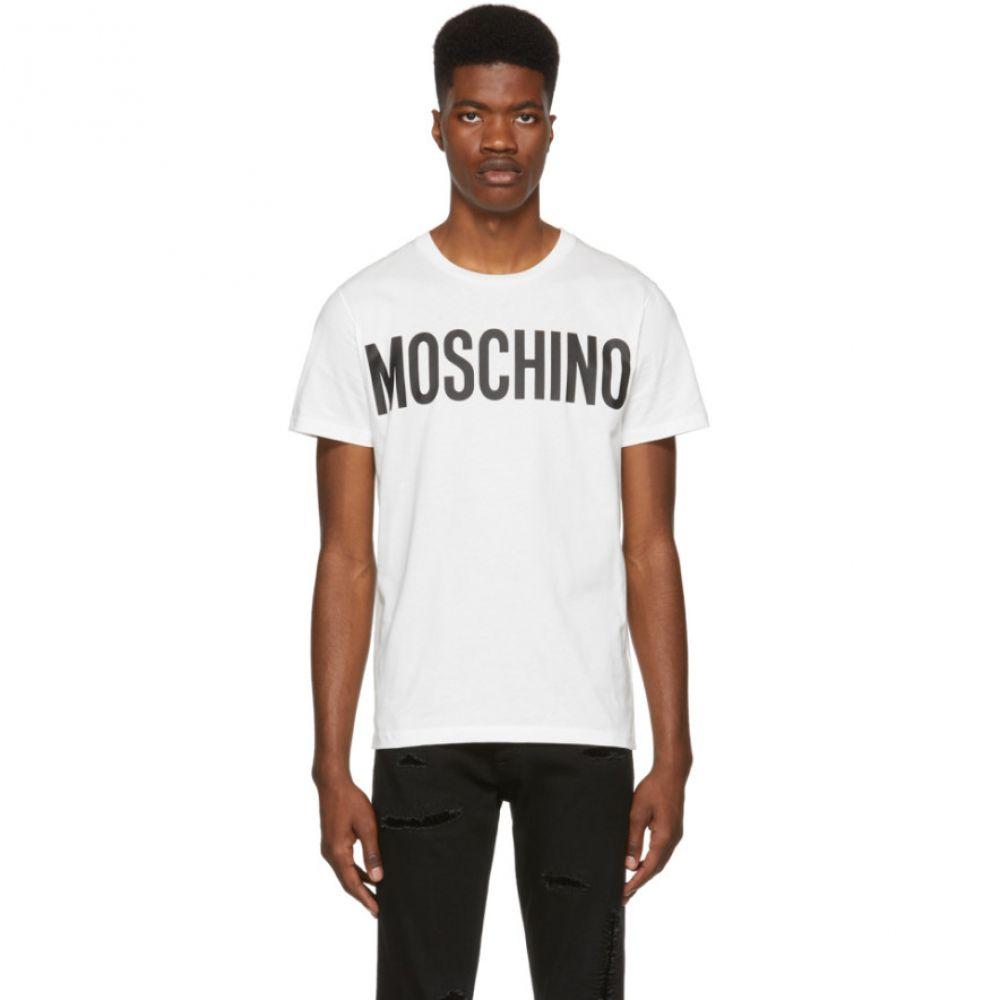 モスキーノ メンズ トップス Tシャツ【White Logo T-Shirt】