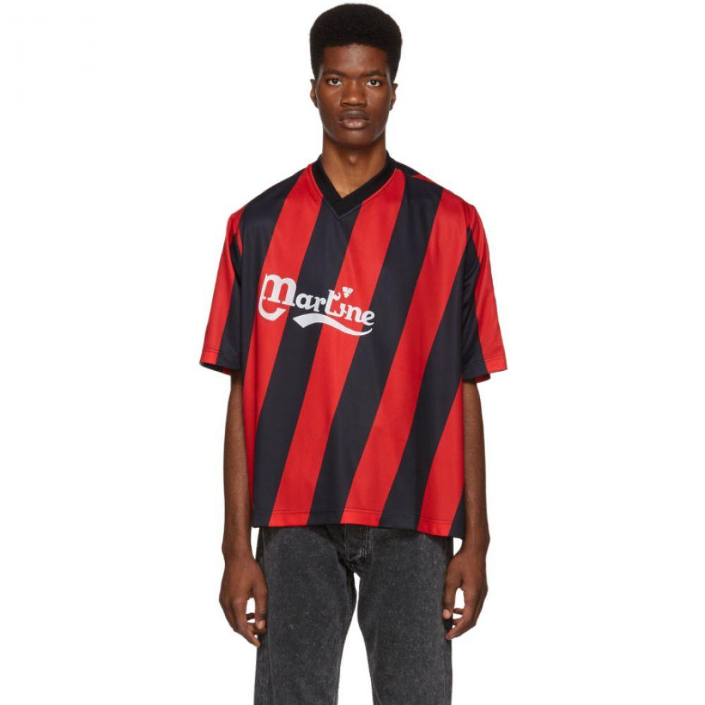マーティン ローズ メンズ トップス Tシャツ【Black & Red Twist Football T-Shirt】