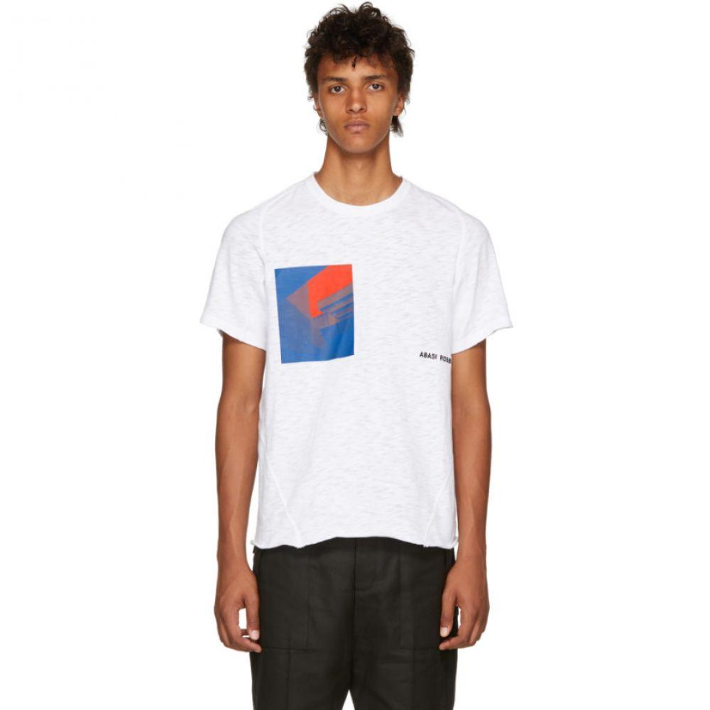 アバシ ローズボロー メンズ トップス Tシャツ【White Crimson Arc T-Shirt】